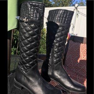 STUART WEITZMAN tall black leather boots